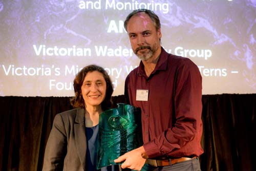 Partnerships in Research and Monitoring  - joint winner: Deakin University, Parks Victoria, The University of Melbourne - Victorian Marine Park Habitat Mapping and Monitoring