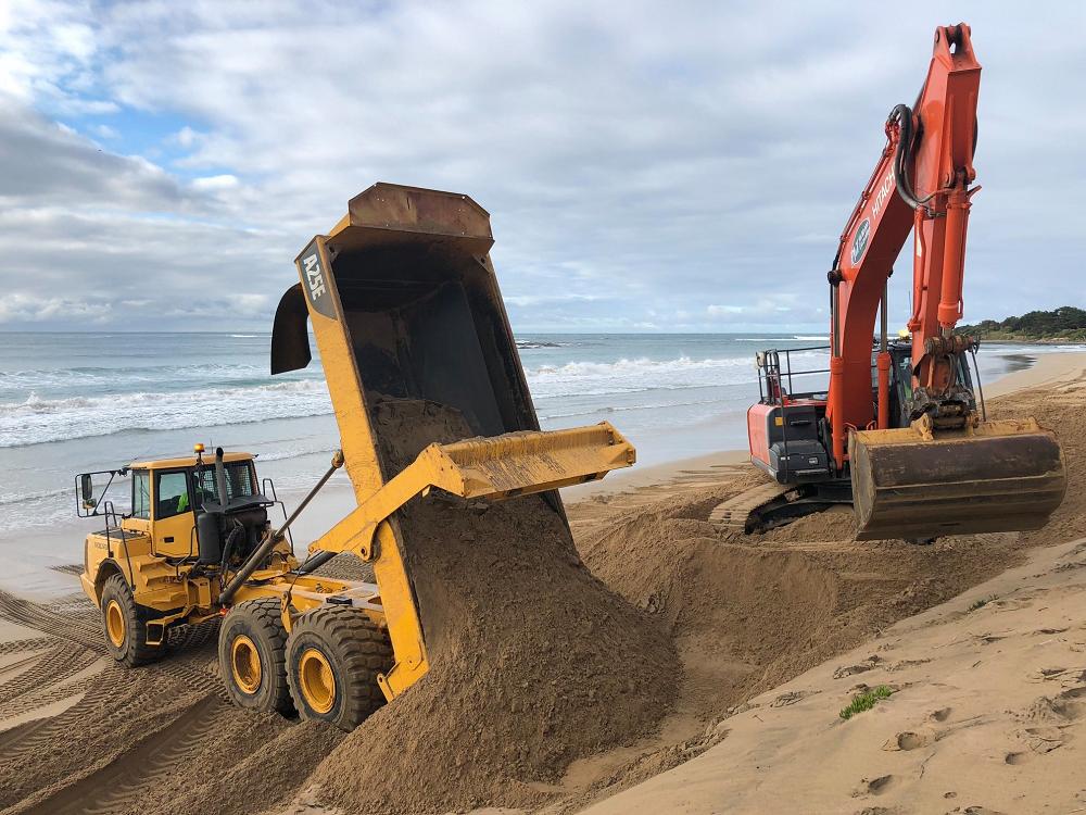 Sand renourishment at Apollo Bay